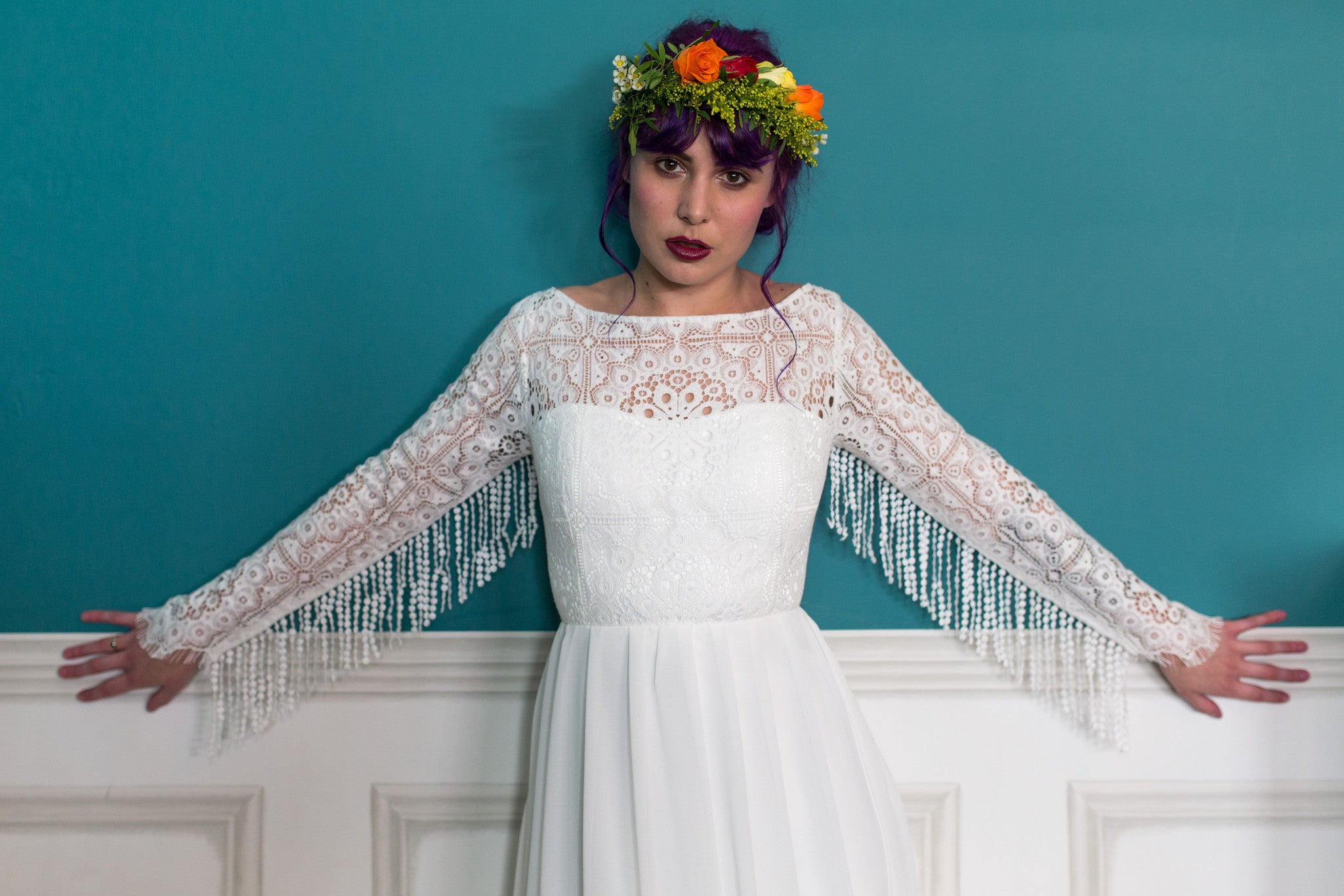 Cowboy-inspired Bohemian Wedding Dress - London Calling – Lucy Can\'t ...