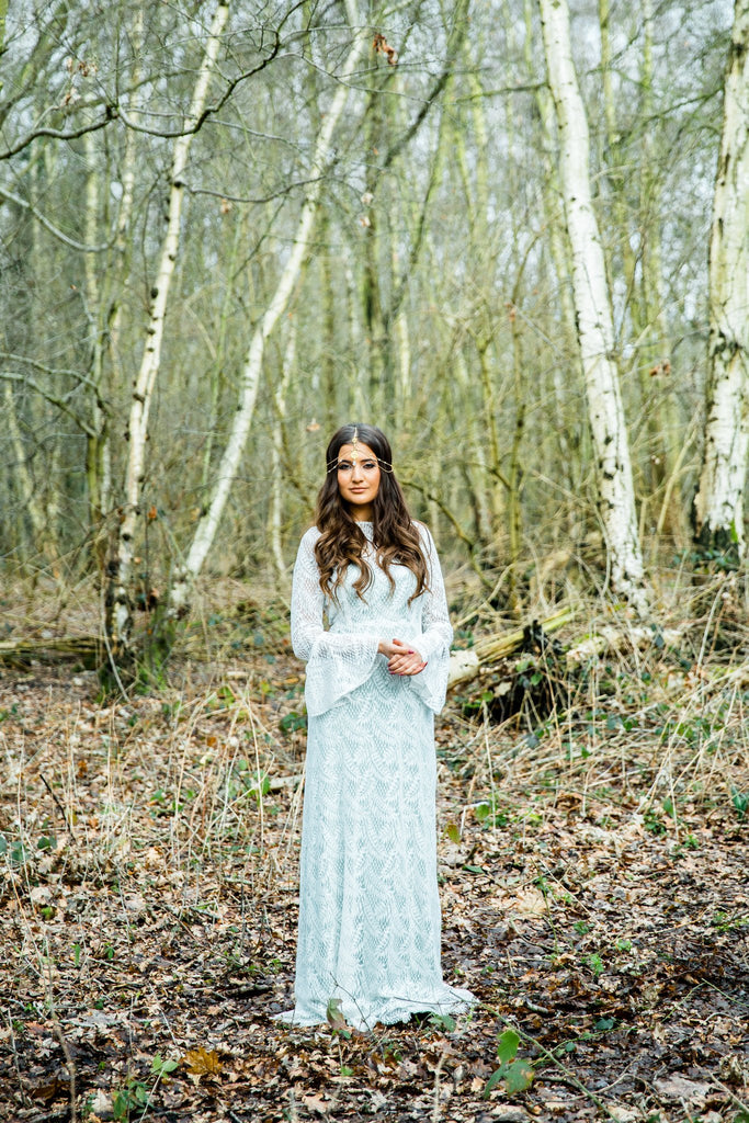 Woodland bohemian wedding dress