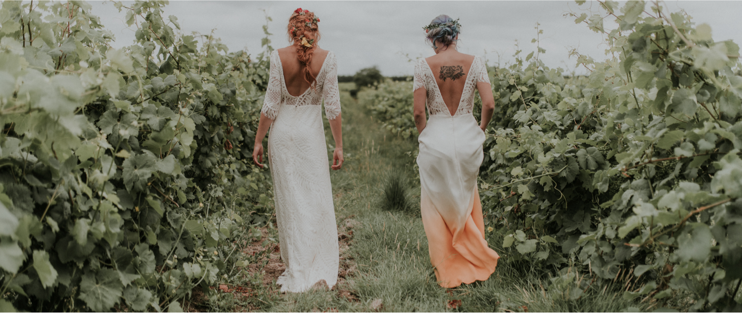 Unique & Alternative Dip Dye Wedding Dresses