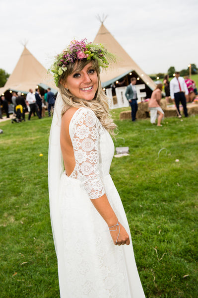 Mrs Sophie Wills - One of our happy festival wedding dress brides