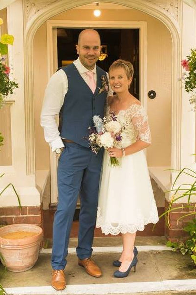 Mrs Joanna Hagen - One of our happy modern wedding dress brides