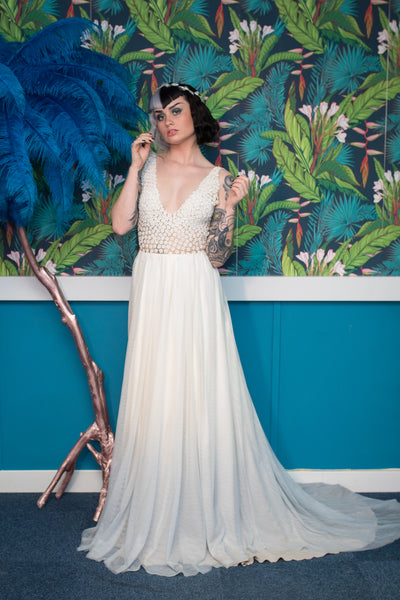 Gallery - Boho ivory tulle wedding dress