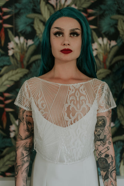 Labyrinth lace top