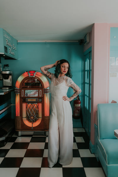 Modern wedding jumpsuit