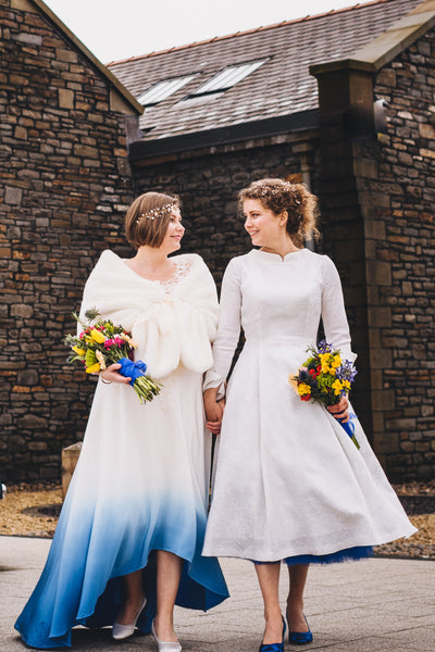 Mrs Adele Hill - One of our happy colourful wedding dress brides