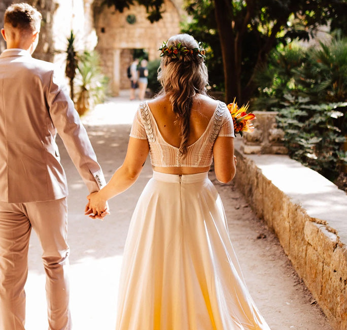 Backless wedding dress top