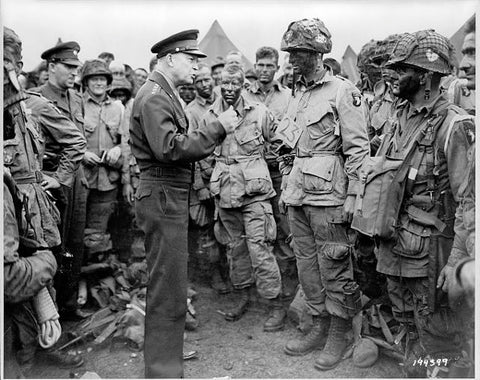 Eisenhower Speaking to Airborne -Day