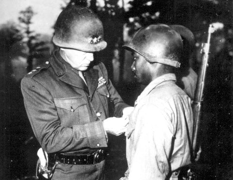 M1 Combat Helmet Patton Awarding Silver Star