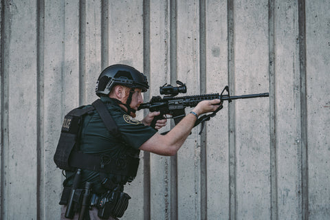 Tactical Helmet setup for police