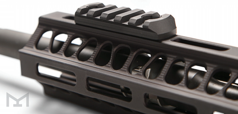 M-LOK rail system on rifle