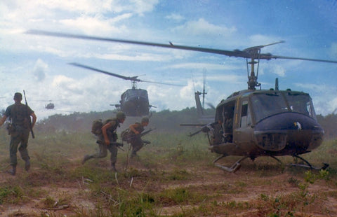 Helicopters and Helmets in Vietnam