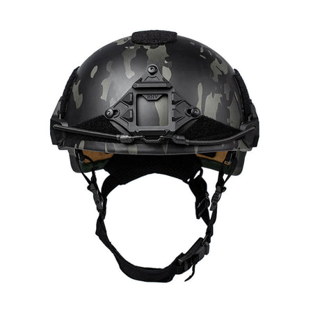 Tactical Helmet ATE Black Multi-Cam Front