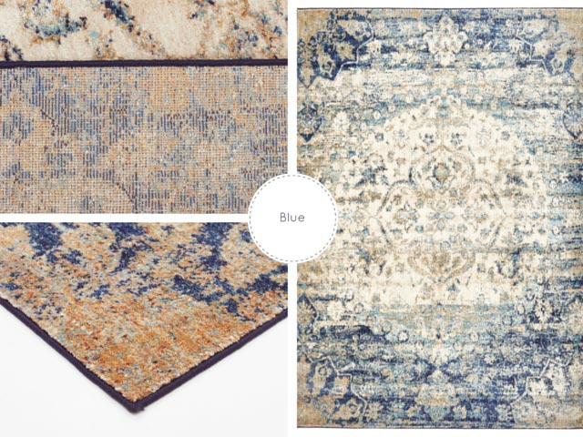 blue rug collage