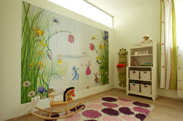 Kids rug in playroom
