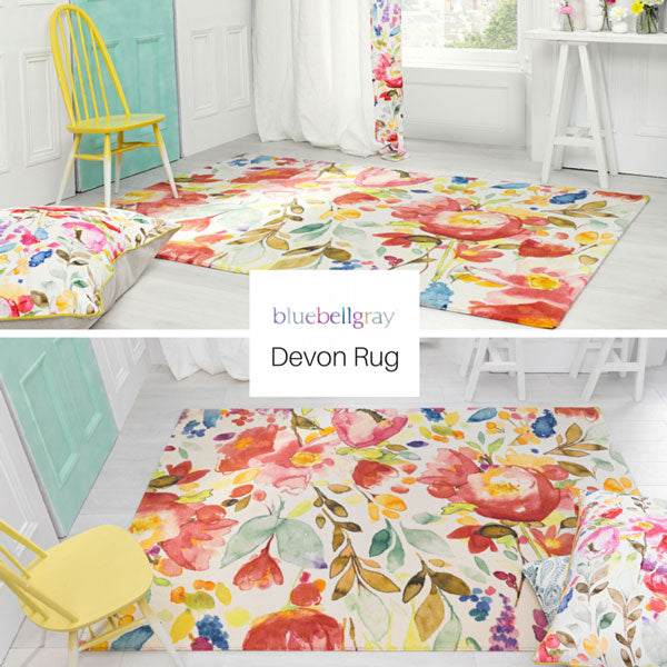 colourful devon floral rug