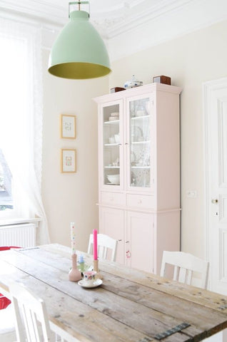 cupboard and wooden pastels