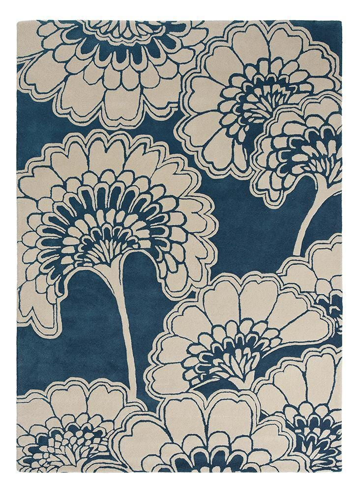Florence Broadhurst Japanese Floral in Midnight Blue : 039708