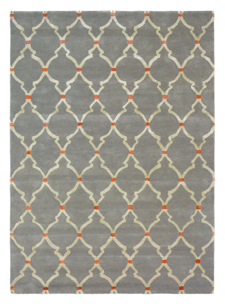 Sanderson Empire Trellis in Slate : 45504