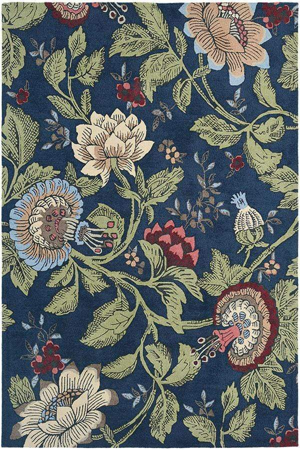 Wedgwood Passionflower Navy 37118 Rug