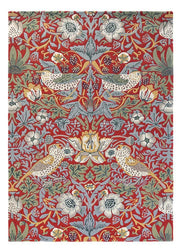 William Morris - The Strawberry Thief in Crimson
