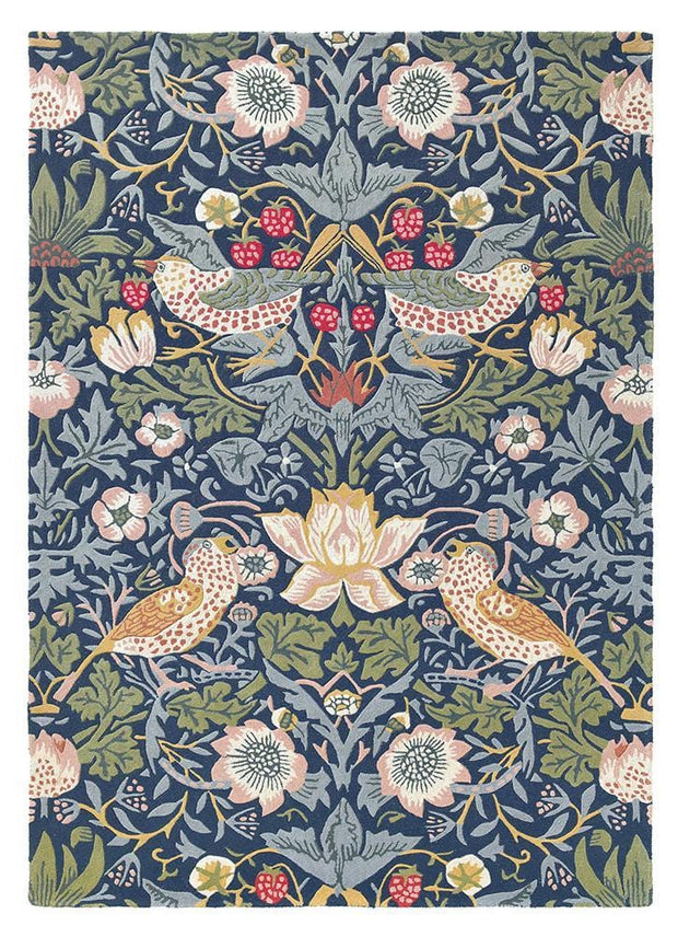 William Morris - The Strawberry Thief in Indigo