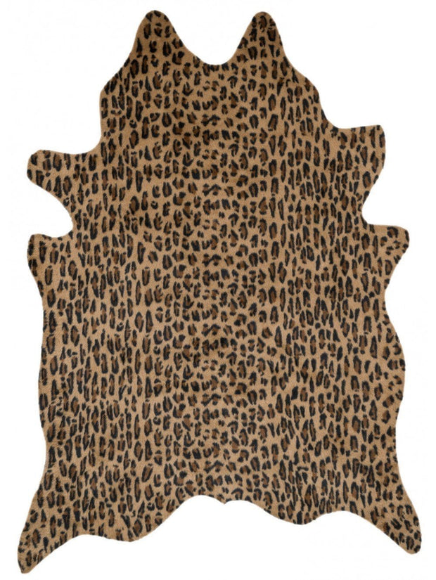 Premium Natural Cow Hide with Cheetah Print