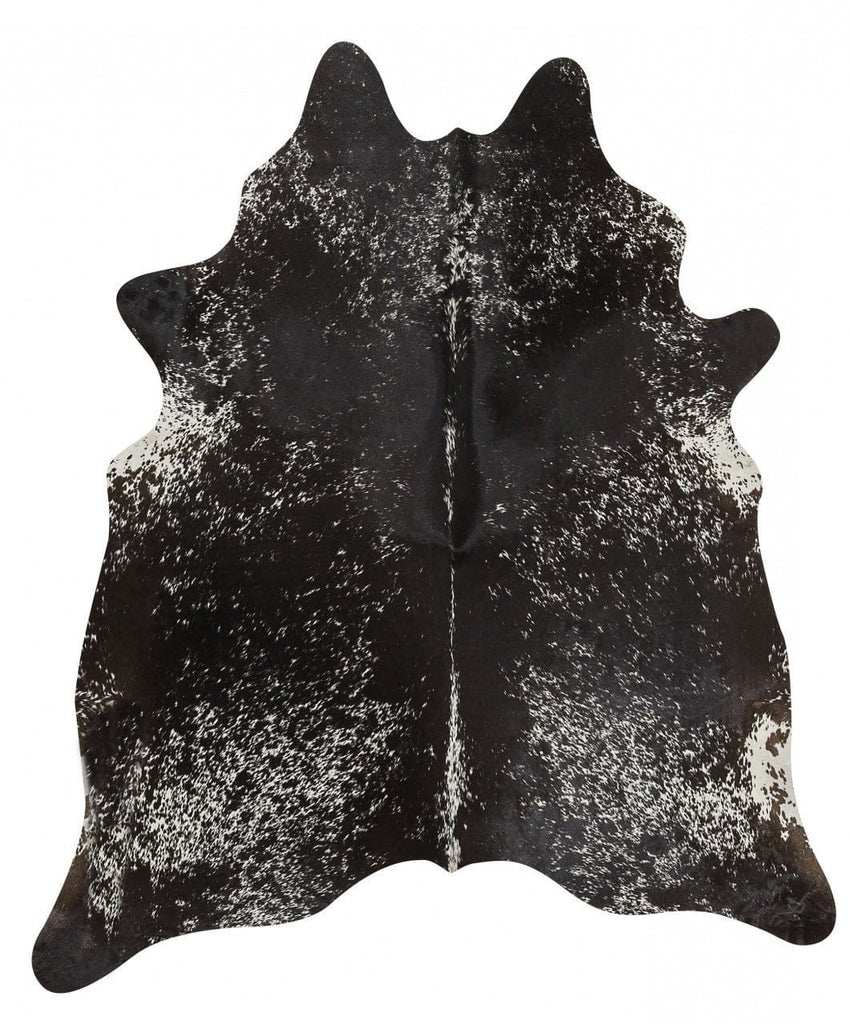 Natural Cowhide in Salt & Pepper Black