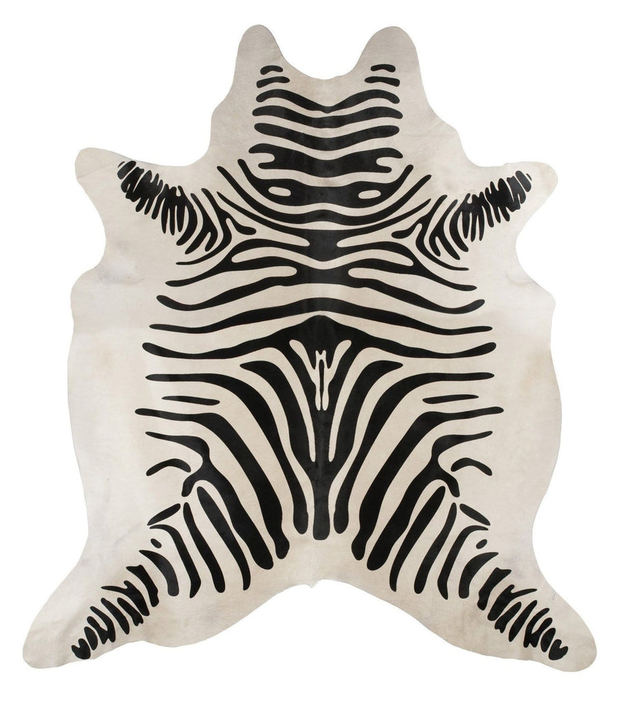 Natural Cowhide in Zebra Print