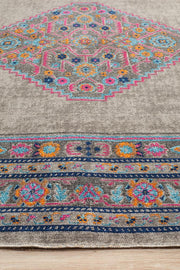 Eternal Shiraz in Pastel Grey - Available in Rug and Runner