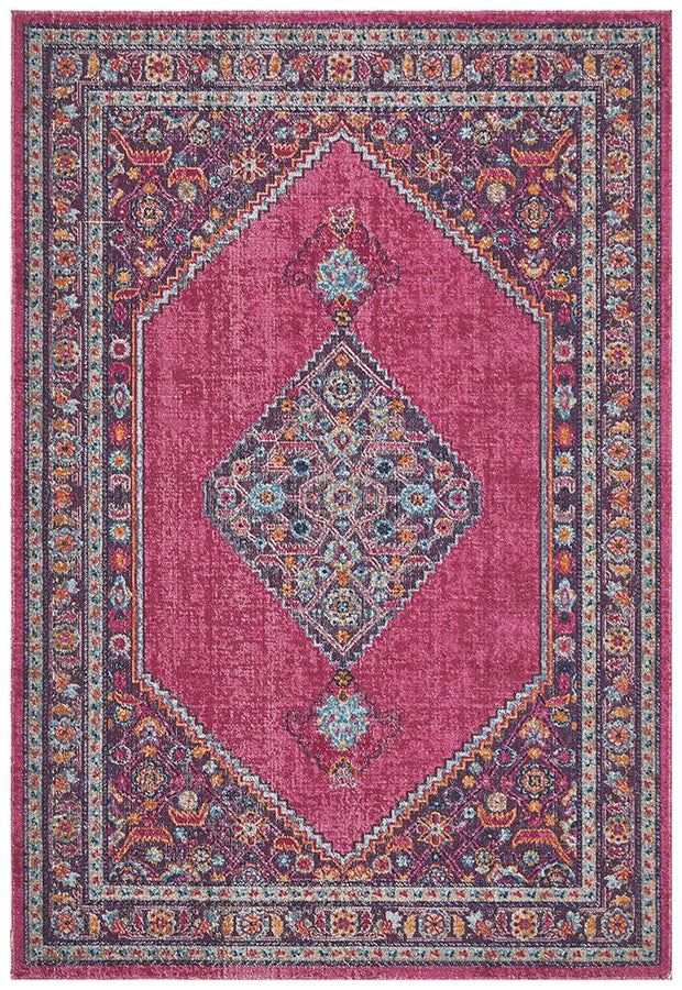 Eternal Shiraz in Hot Pink - Available in Rug and Runner