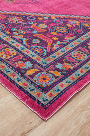 Rug Culture Eternal Whisper Diamond Pink Runner Rug