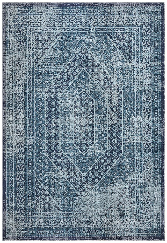 Rug Culture Eternal Whisper Vision Blue Runner Rug