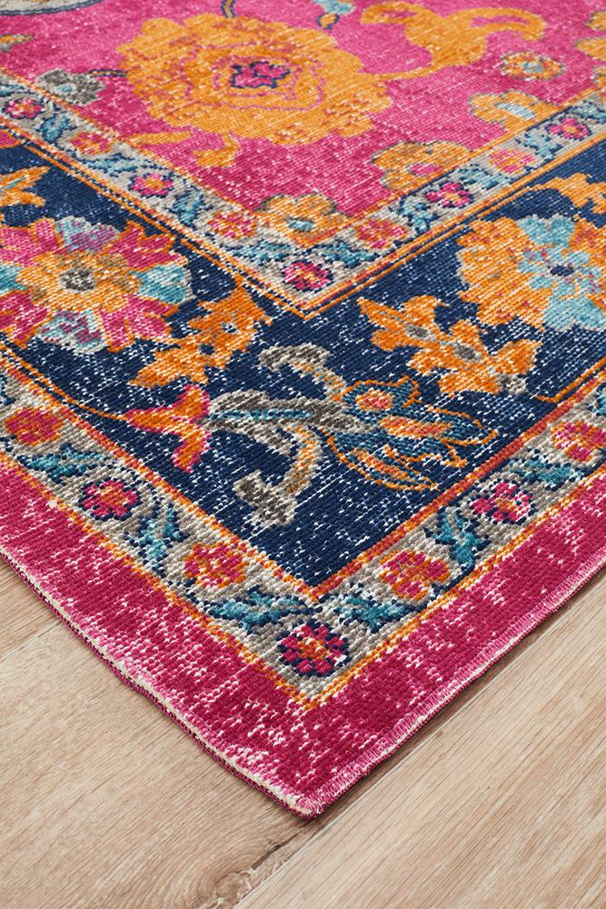Rug Culture Eternal Whisper Corners Pink Runner Rug