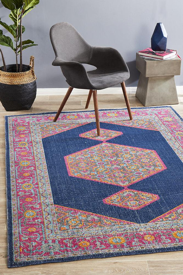 Eternal Tehran in Navy - Available in Rug and Runner