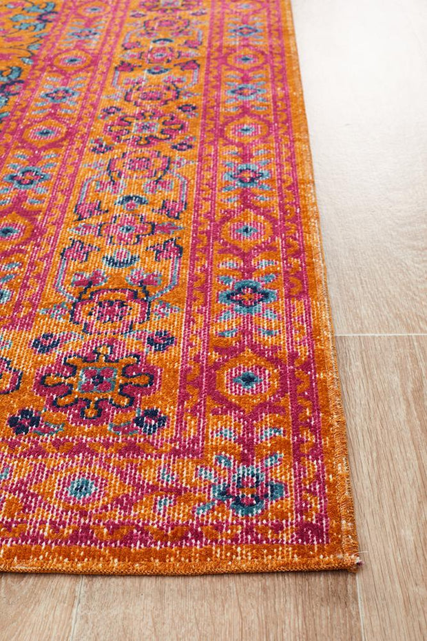 Eternal Sari in Rust - Available in Rug and Runner