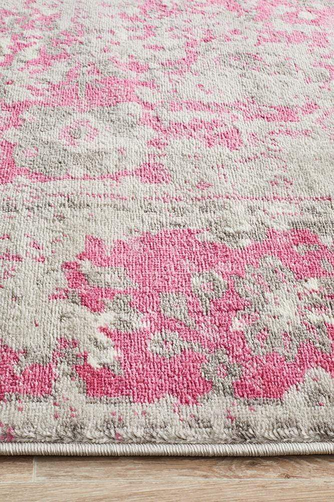 Alexa Transitional Rug Grey Fuchsia - Cheapest Rugs Online