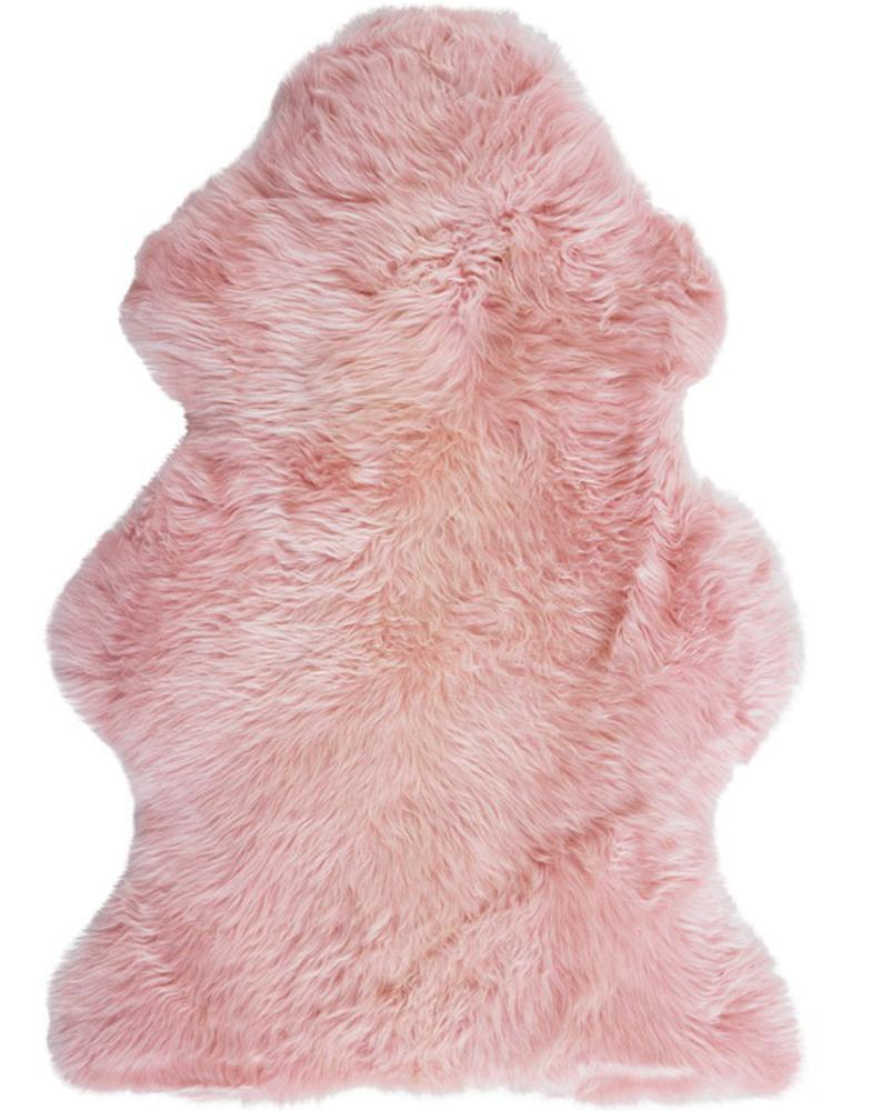 New Zealand Premium Sheepskin in Blush Pink