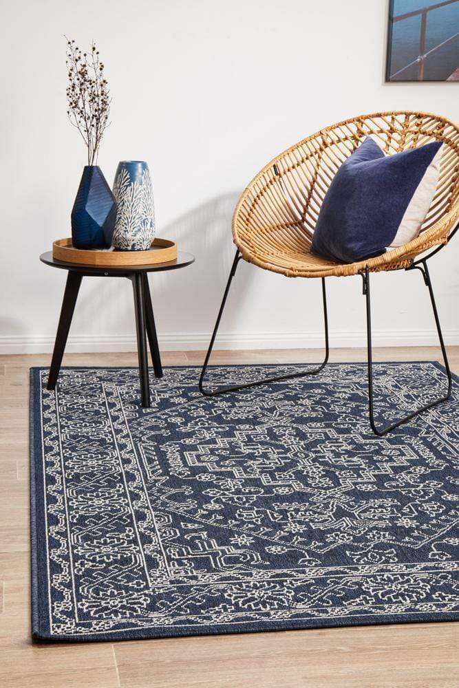 Seaside Tribal Indoor | Outdoor in Navy