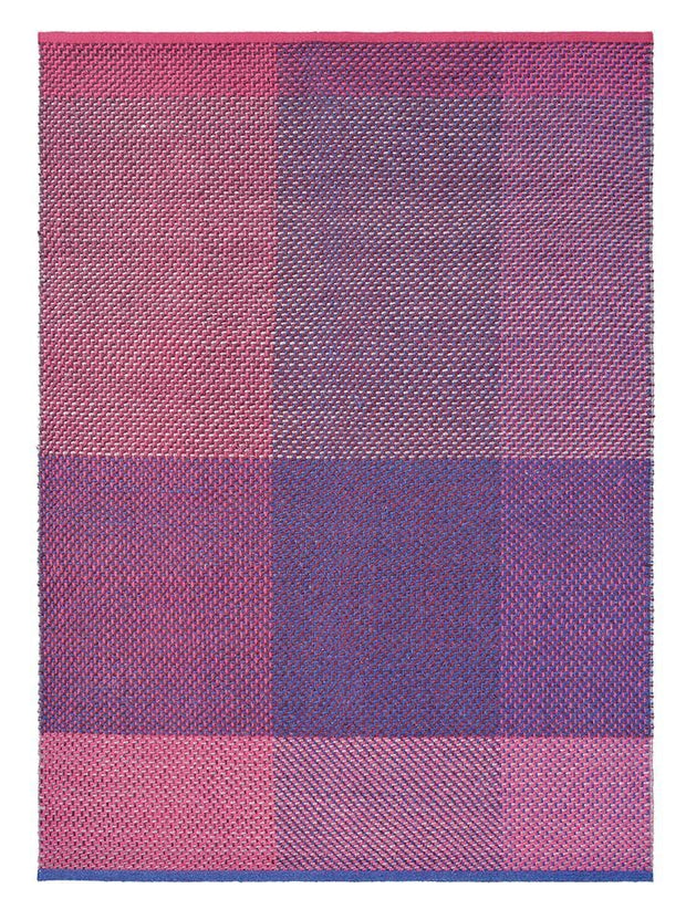 Ted Baker Check Rug No.56400 in Burgundy