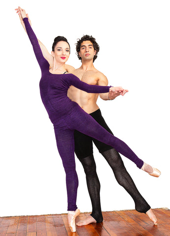 Ballet Dancers Gvantsa and Otar Gavasheli KD dance New York  Purple Tights Mens Dancewear Made In USA