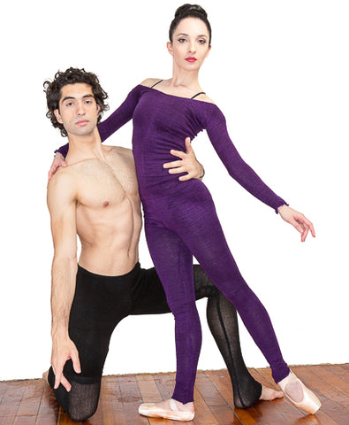 KD dance New York Gvantsa and Otar Purple Tights Mens Dancewear Made In USA Ballet Dancers