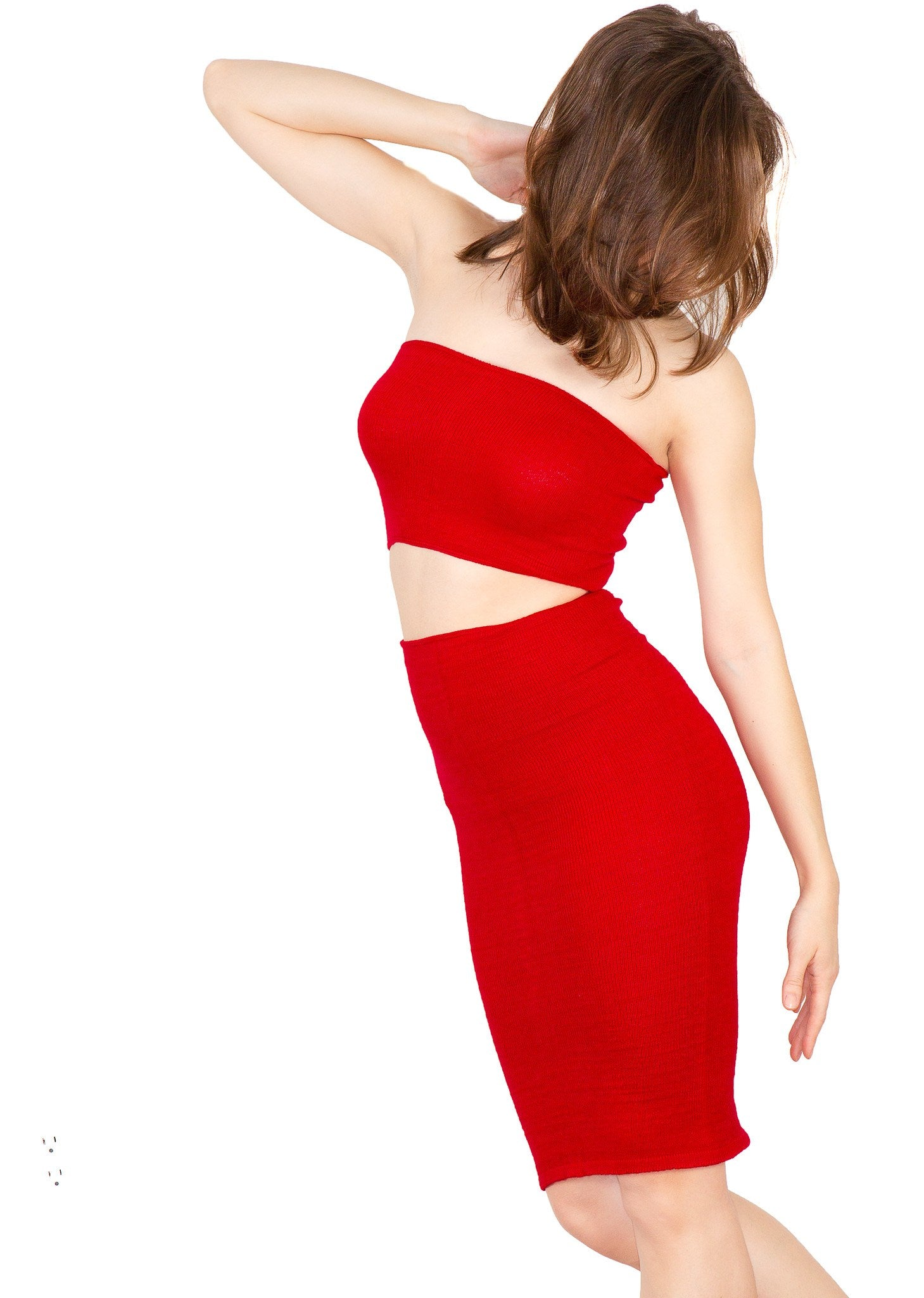 Sexy Knee High Hipster To High Rise Sweater Dress & Rib Length Tube Top Set Made In USA @KDdanceNewYork #MadeInUSA - 6
