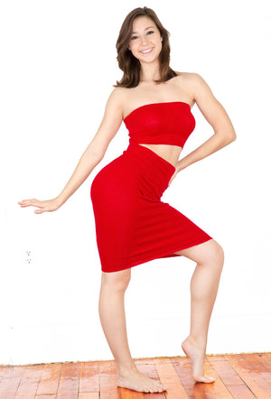 Sexy Knee High Hipster To High Rise Sweater Dress & Rib Length Tube Top Set Made In USA @KDdanceNewYork #MadeInUSA - 5