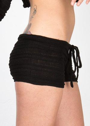 Low Rise Drawstring Shorts & Sexy Bare Belly Shadow Stripe Cocoon Top by KD dance Made In USA @KDdanceNewYork #MadeInUSA - 5
