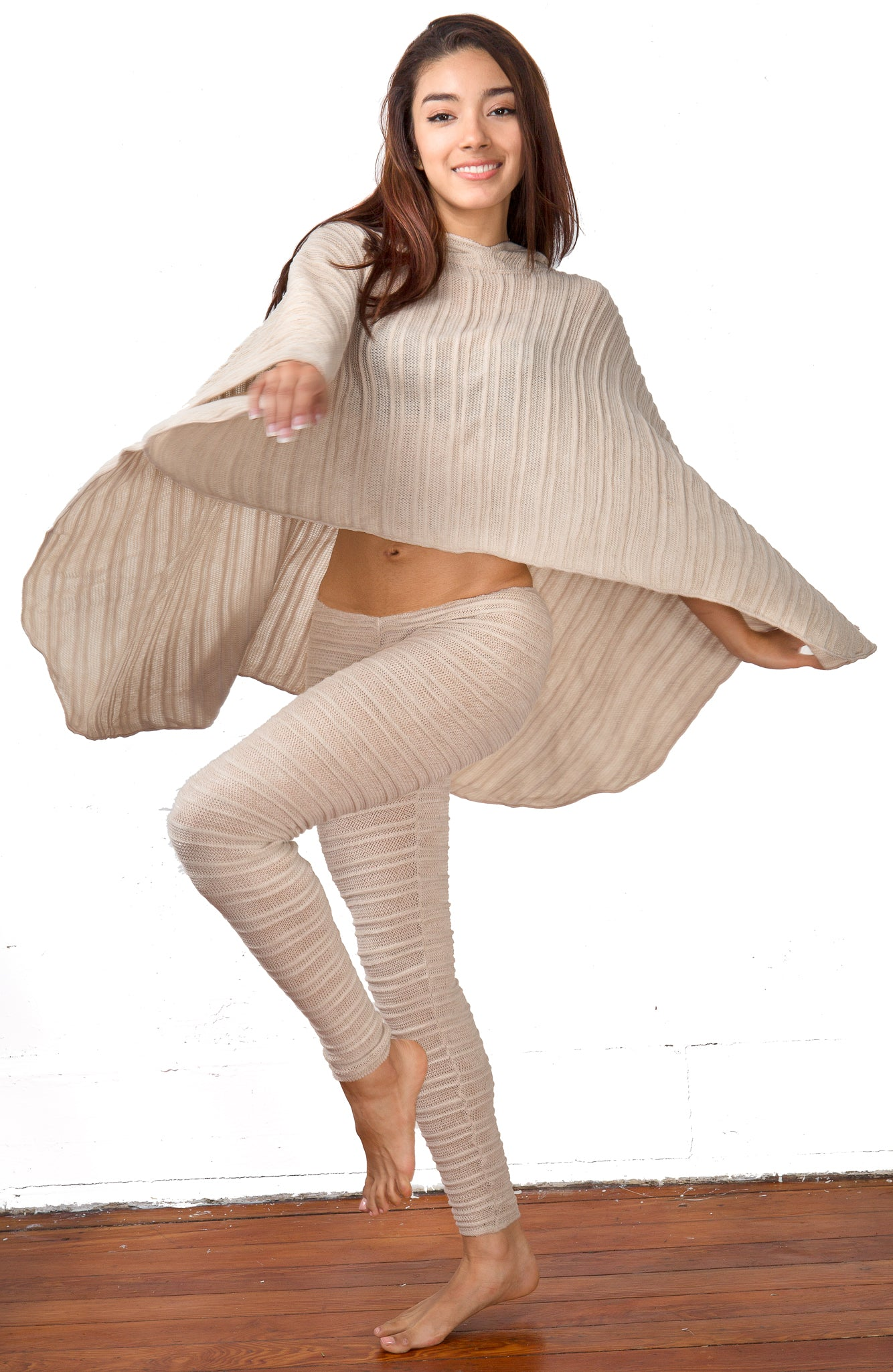 Hoodie Poncho Stretch Knit KD dance New York Sexy Chic & Unique Made In USA @KDdanceNewYork #MadeInUSA - 1