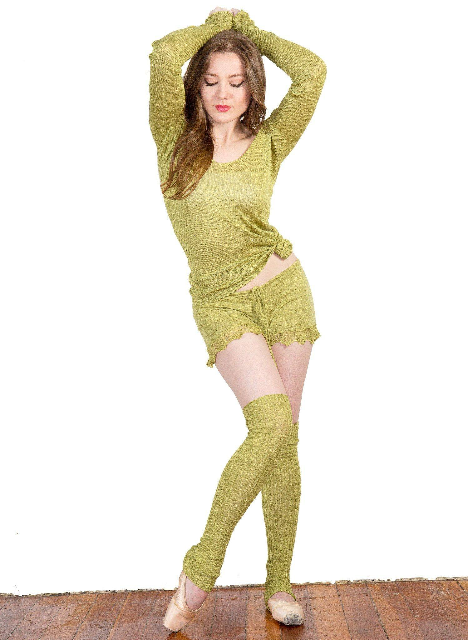 Leg Warmers: Knee High KrinkleSpun Soft Subtle Shine Legwarmers by KD dance New York Made In USA @KDdanceNewYork #MadeInUSA - 7