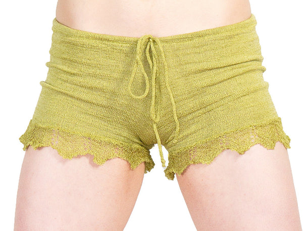 Shorts:  Sexy Lace Trimmed Stretch Knit Drawstring Shorts KrinkeSpun KD dance Made In USA @KDdanceNewYork #MadeInUSA - 4
