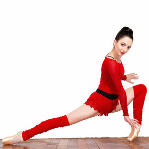 Leg Warmers: Knee High KrinkleSpun Soft Subtle Shine Legwarmers by KD dance New York Made In USA @KDdanceNewYork #MadeInUSA - 9