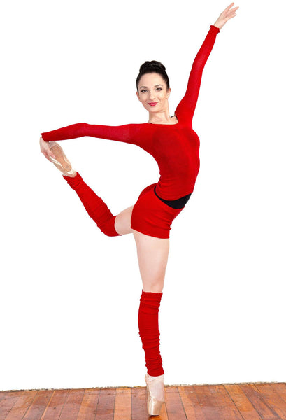Off Shoulder Ballet Top & High Waist Dance Shorts @KDdanceNewYork #MadeInUSA - 3