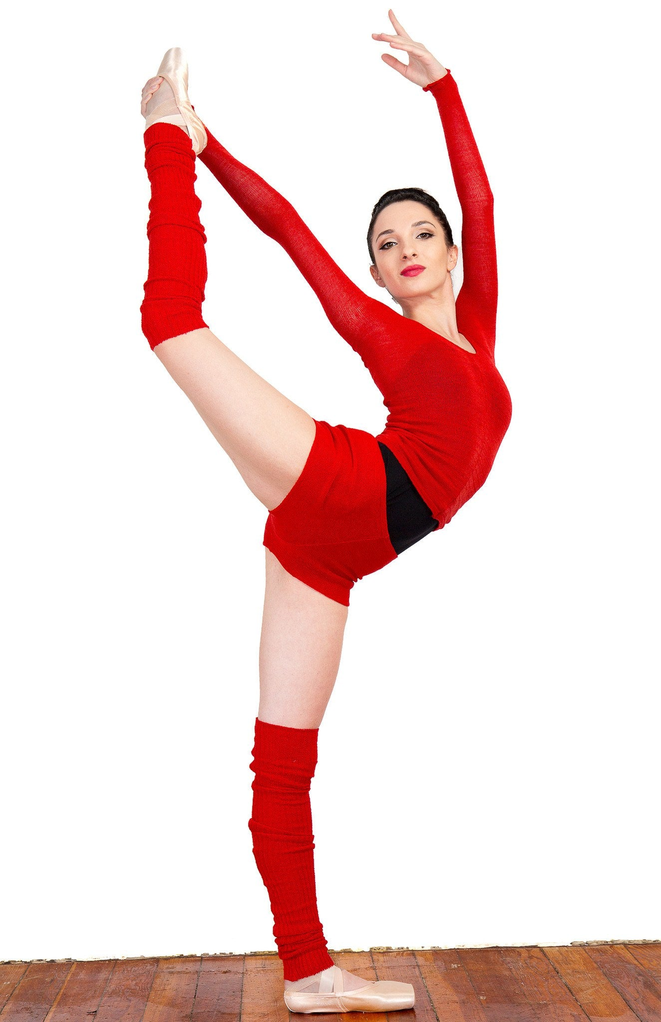 Leg Warmers: Knee High KrinkleSpun Soft Subtle Shine Legwarmers by KD dance New York Made In USA @KDdanceNewYork #MadeInUSA - 4